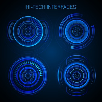 Futuristische hud-interface Gratis Vector