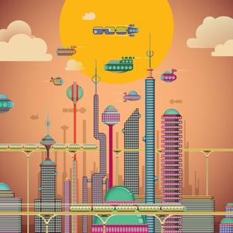 Futuristische illustratie
