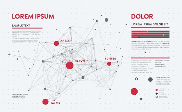 Futuristische infographic. informatie-esthetiek. complexe datahreads grafische visualisatie. abstracte gegevensgrafiek.