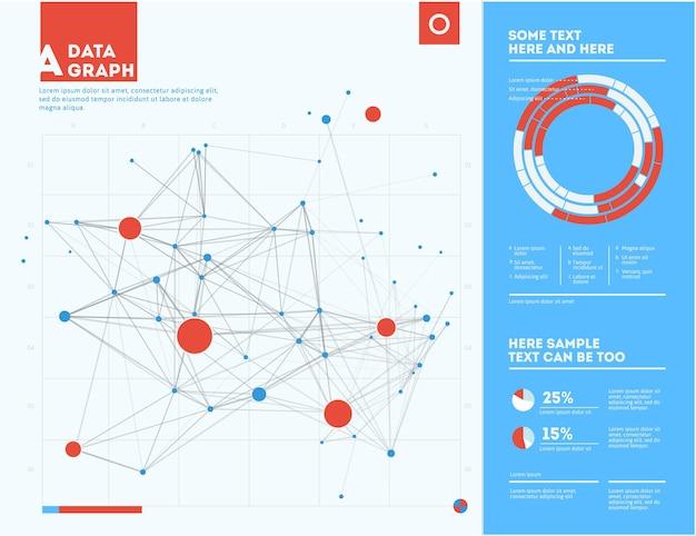 Futuristische infographic informatie-esthetisch ontwerp complexe data-threads grafische visualisatie