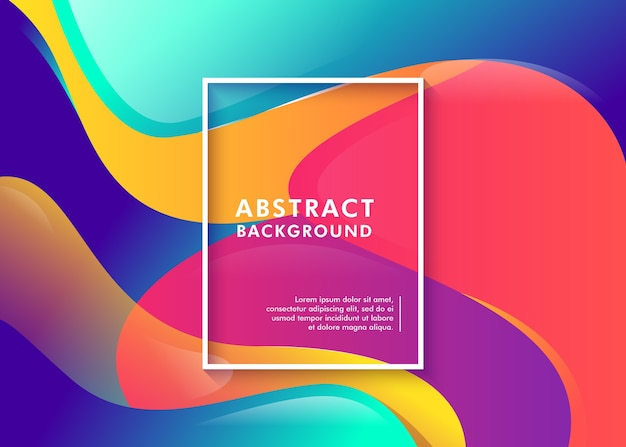 Futuristische kleurrijke abstracte vloeibare achtergrond