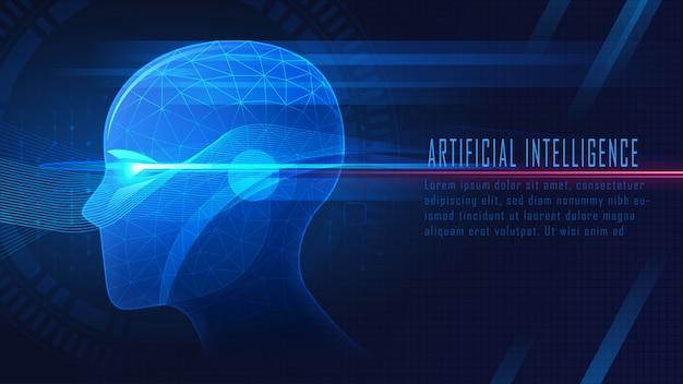 Futuristische kunstmatige intelligentie achtergrond