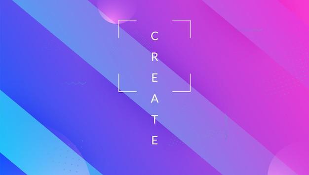 Futuristische lay-out. levendig papier. technisch geometrisch ontwerp. minimale textuur. roze heldere vorm. veelkleurige compositie. dynamische banner. golf bestemmingspagina. lila futuristische lay-out