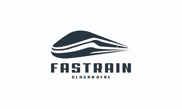 Futuristische metro railway transport logotype icoon, fast train logo ontwerpen concept vector