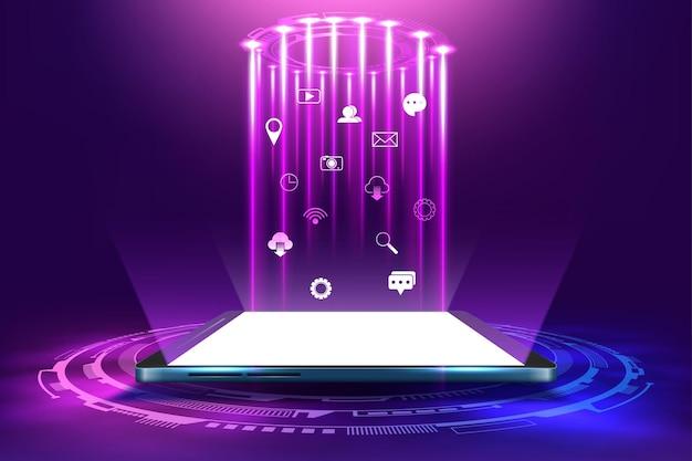 Futuristische mobiele telefoon vectorillustratie