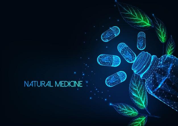 Futuristische natuurlijke geneeskundeachtergrond