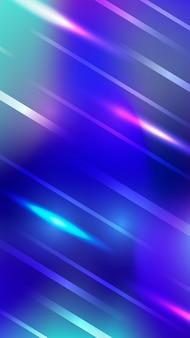 Futuristische neonlichten van colorfuol wazig mobiel behang