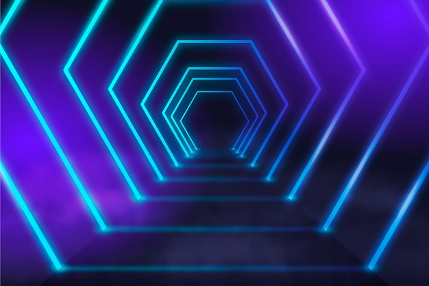 Futuristische neonlichtenachtergrond