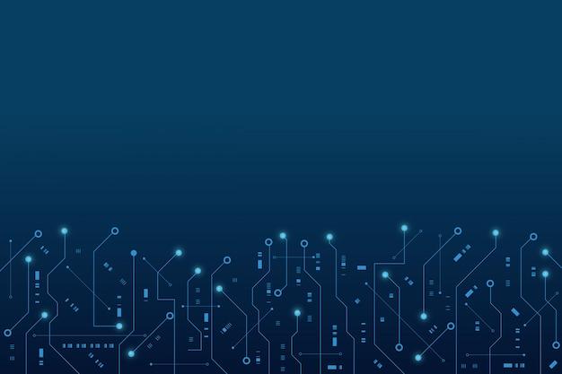 Futuristische printplaat, elektronisch moederbord, communicatie- en engineeringconcept, hi-tech digitaal technologieconcept