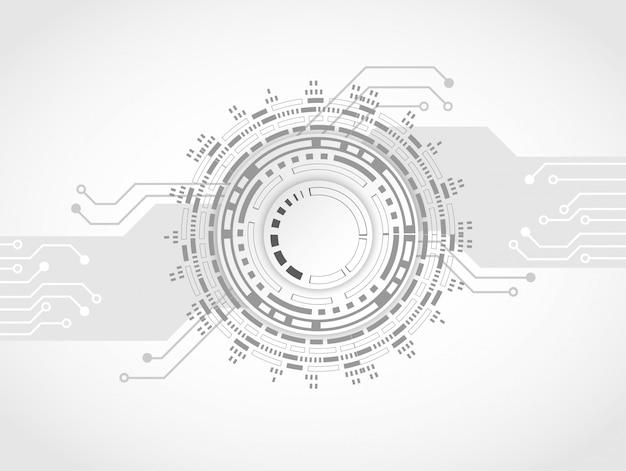 Futuristische schone technologie tandwiel technologie printplaat