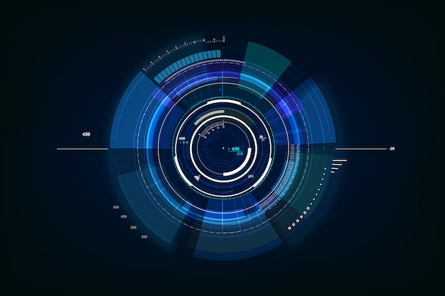 Futuristische sci fi technologie achtergrond