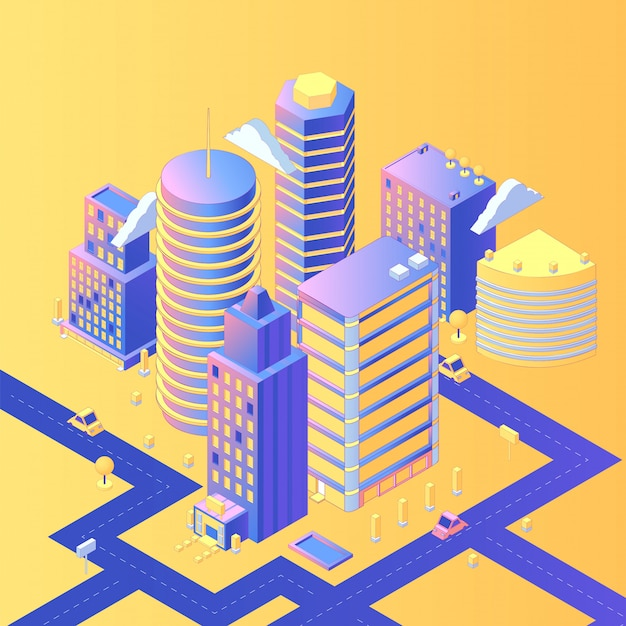 Futuristische stad isometrisch