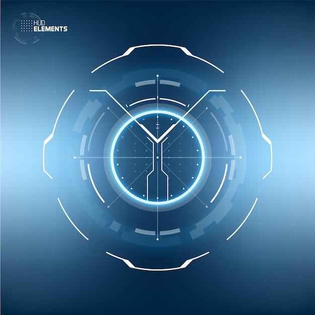 Futuristische technologie abstract cirkelvormig