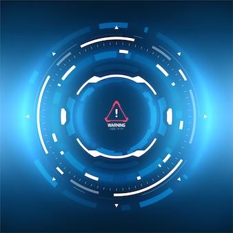 Futuristische technologie abstracte circlular achtergrond.