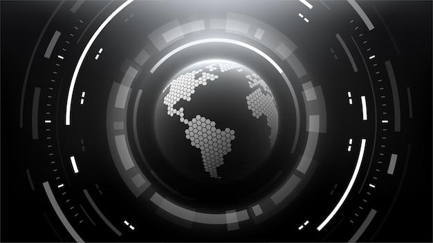 Futuristische technologie abstracte cirkelvormige achtergrond