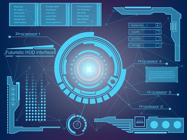 Futuristische technologie-interface hud ui-achtergrond.