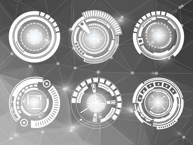 Futuristische technologie-interface hud ui-elementen.