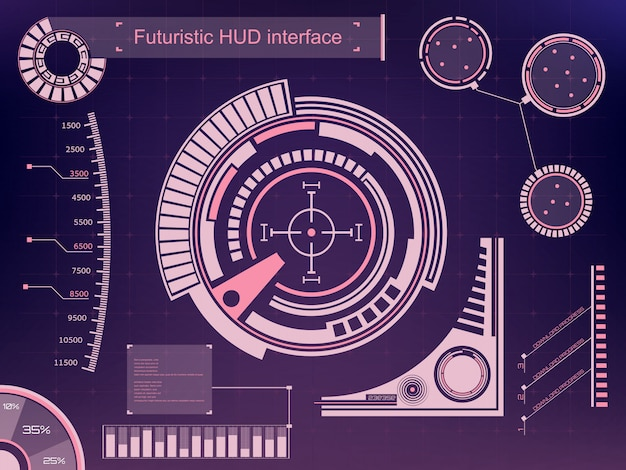 Futuristische technologie-interface hud ui