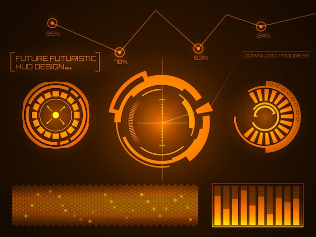 Futuristische technologie-interface hud ui