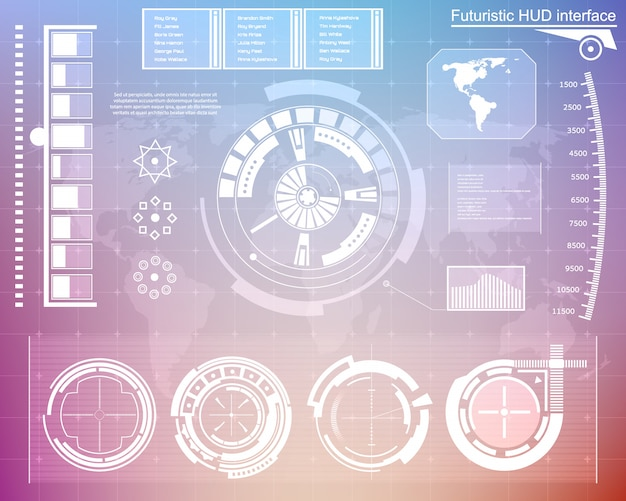 Futuristische technologie-interface hud ui.