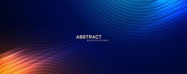 Futuristische technologie lijnen achtergrond met licht effect