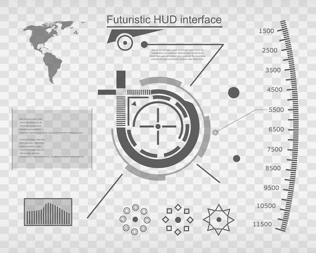 Futuristische virtuele aanraakgebruikersinterface hud.