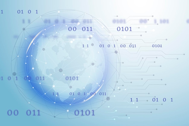 Futuristische wereldwijde netwerktechnologie