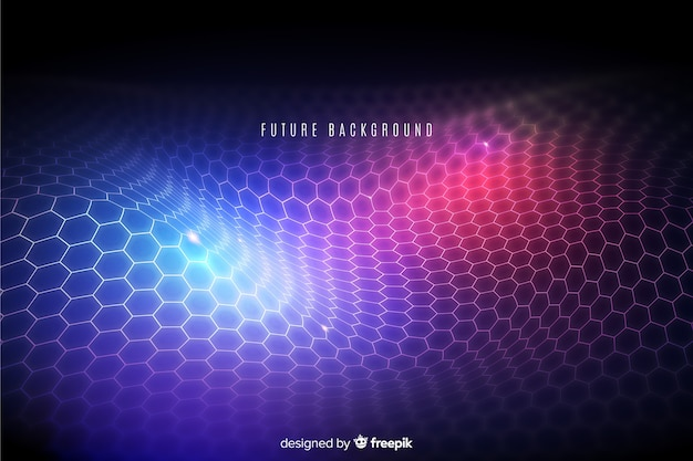 Futuristische zeshoekige netto achtergrond