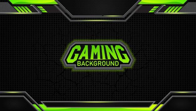 Futuristische zwarte en groene gaming-achtergrond