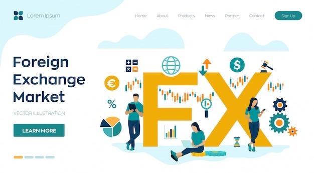Fx. deviezenmarkt. wereldwijde financiële markt. forex bankieren.
