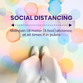 Fysieke afstand op openbare achtergrond