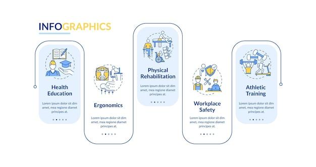 Fysieke gezondheid infographic sjabloon