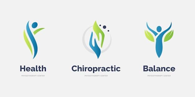Fysiotherapie logo sjabloonverzameling