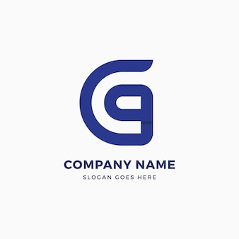 G brief logo ontwerpsjabloon