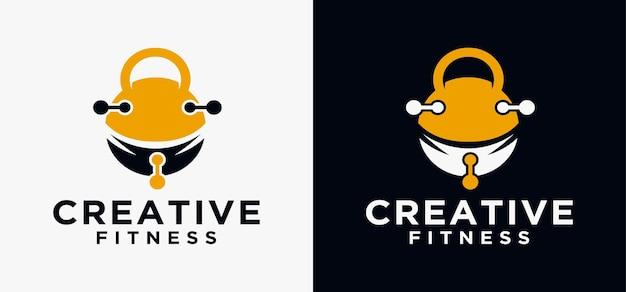 G gym fitness logo ontwerpsjabloon fitness met barbell technologie logo vector pictogrammalplaatje