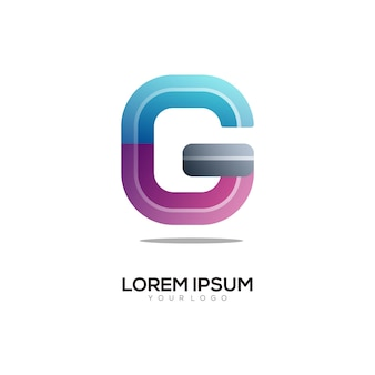 G letter logo kleurrijke afbeelding