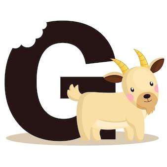 G voor geit