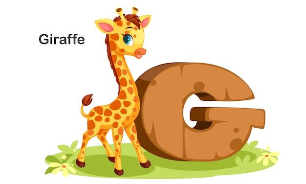G voor giraffe