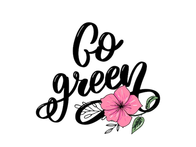 Ga groen belettering