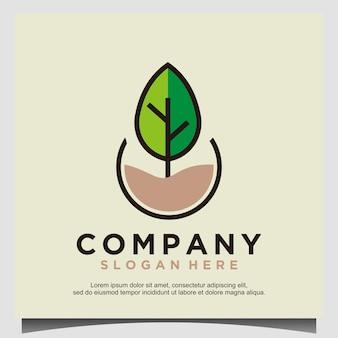 Ga groen logo ontwerpsjabloon