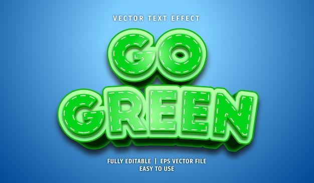 Ga groen teksteffect, bewerkbare tekststijl