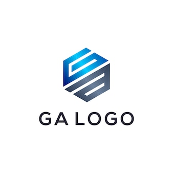 Ga monogram logo-ontwerp