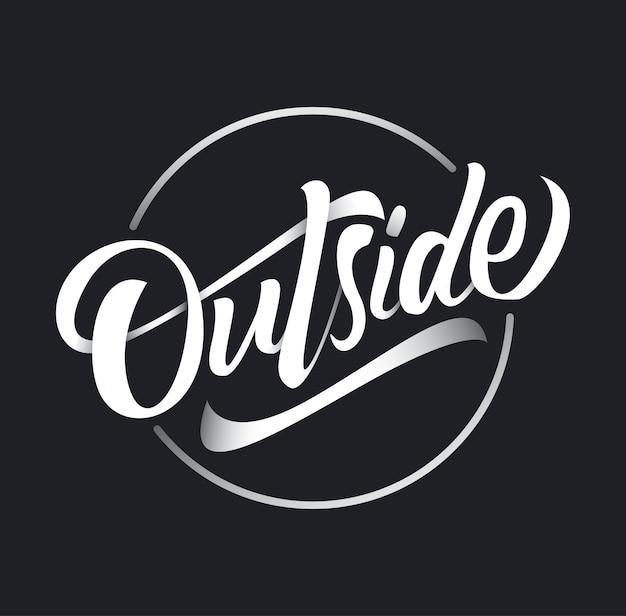Ga naar buiten typografie