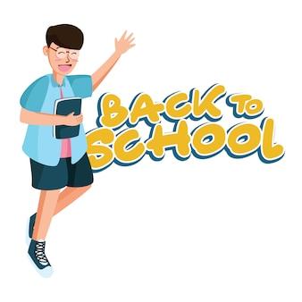 Ga naar school achtergrond