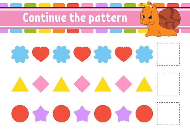 Ga verder met het patroon werkblad ontwikkelen van onderwijs