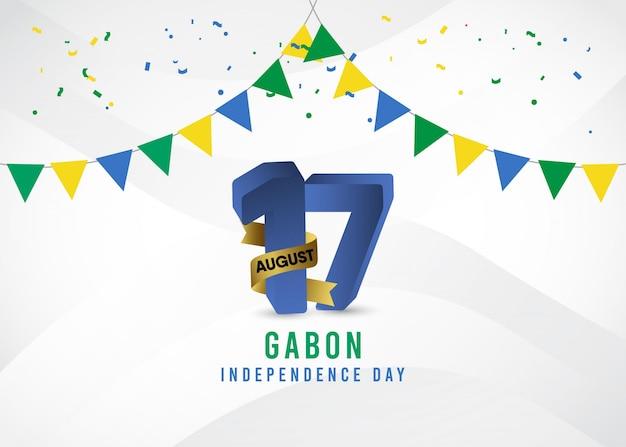 Gabon onafhankelijkheidsdag sjabloon.