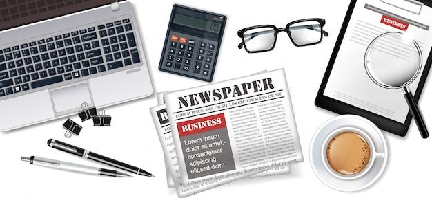 Gadgets en kantoorbenodigdheden bedrijfsinzameling