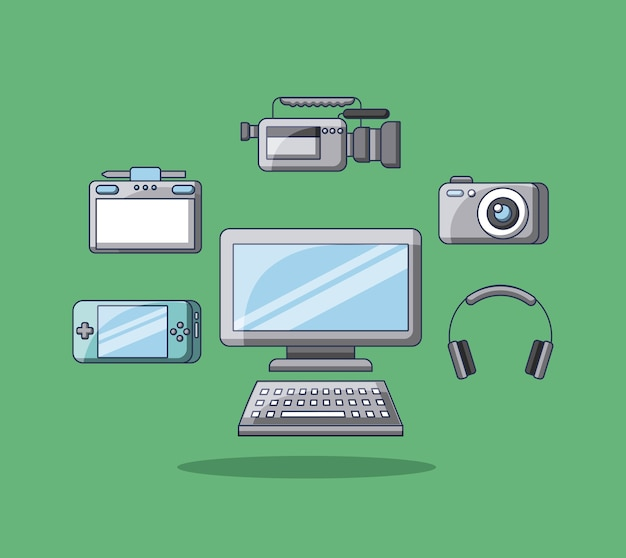 Gadgets technologie apparaat pc camera film psp hoofdtelefoon tablet