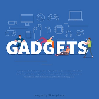 Gadgets woord concept