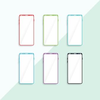 Galaxy 9 mobiele flate vector